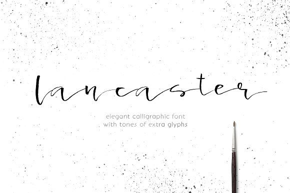 Lancaster - calligraphic font by Favete Art on @creativemarket