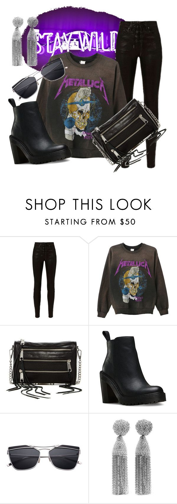 """stay wild.."" by evitaom on Polyvore featuring rag & bone, MadeWorn, Rebecca Minkoff, Dr. Martens and Oscar de la Renta"
