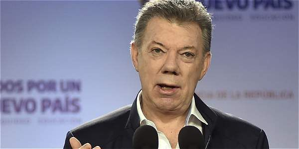 'Si gana el no en el plebiscito, se acaba el proceso de paz': Santos.