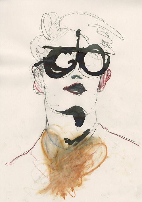 London College of Fashion M.A. A/W 2013 illustrated by Amelie Hegardt #illustration #fashion illustration#trafficnyc