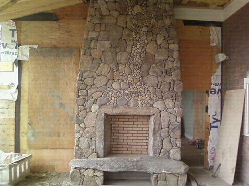 Fieldstone fireplaces new england fieldstone outdoor for Field stone fireplace