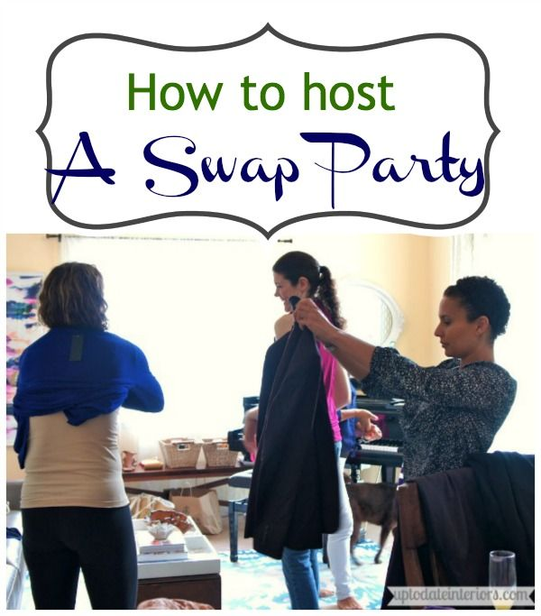 It's Springtime and that means, for most of us, organizing and cleaning.  And what better way to get rid of clothes or home decor than swap them with your friends!