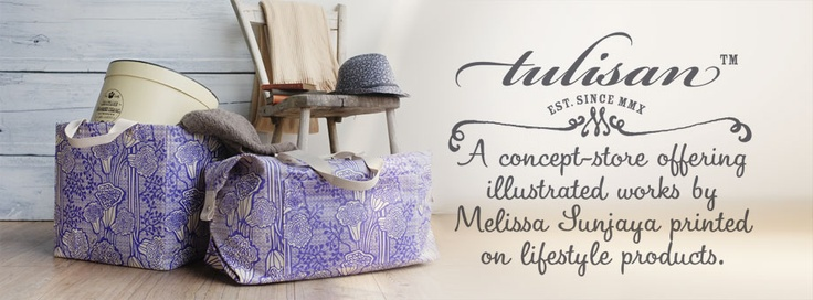 A aoncept store offering illustrated works by Melissa Sunjaya printed on lifestyle products