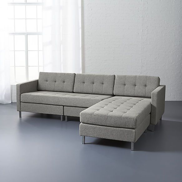 Ditto II Hemp Tufted Sectional Sofa Part 73