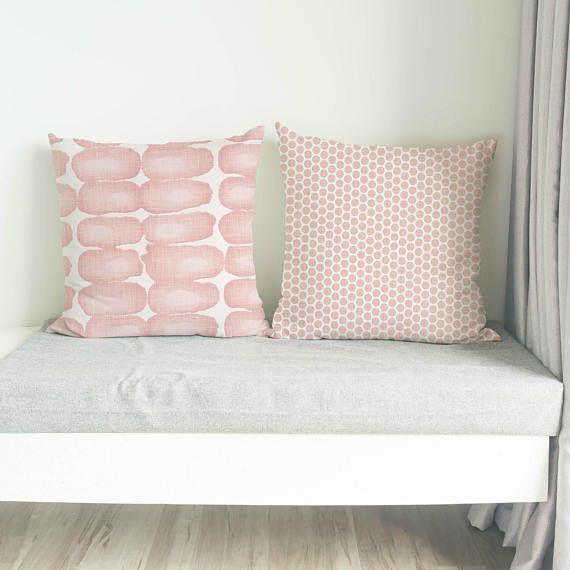 Blush Pink Pillow, Cushion, Blush pink decorative pillow