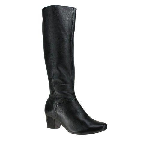Bota Usaflex Q6622 - Preto (Caprina) - Calçados Online Sandálias, Sapatos e Botas Femininas | Katy.com.br