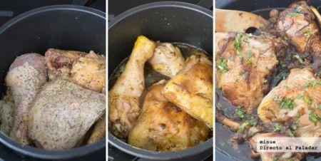 Pollo Balsamico , con olla a presion, con receta.