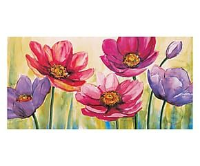 Stampa su tela su mdf Fantasia di anemoni - 100x50x2 cm