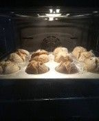 Muffin kalıbında ekşi mayalı EKMEK