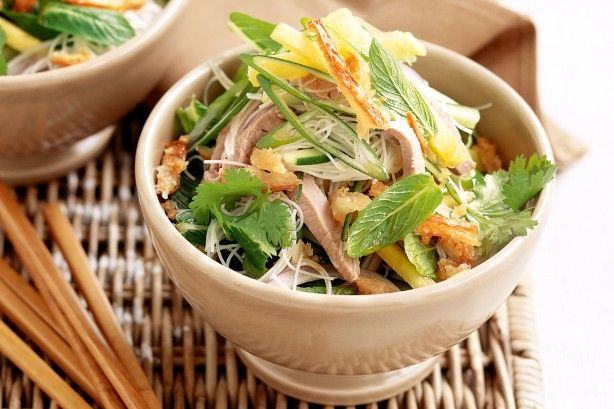 Turn left-over roast pork into this vibrant Vietnamese-inspired noodle dish.