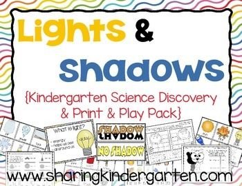 Updated on 1/25/15 This unit is a complete 5 day lesson plan to teach about light and shadows.  Day 1- What is light? Day 2- What does light look like? Day 3- What is a shadow? Day 4- What makes a shadow? Day 5- Discovering Lights and Shadows Also included are book lists, website links for videos and games, and lots of hands on way to teach and explore in your classroom!