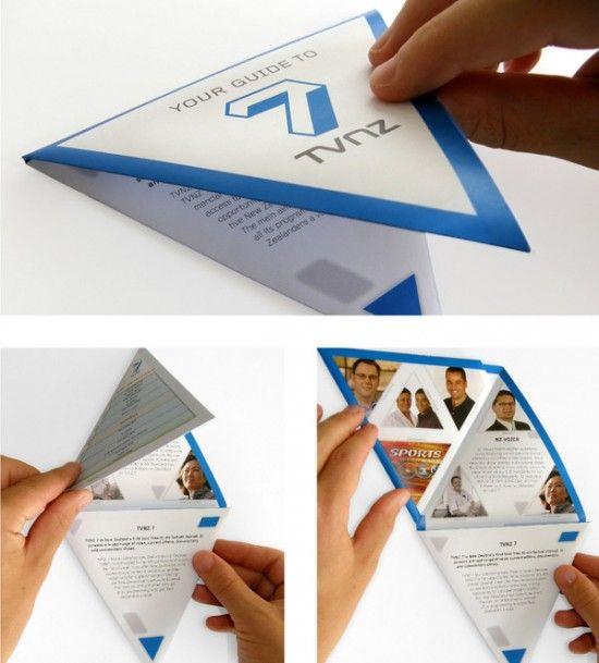 Creatieve en inspirerende folder.