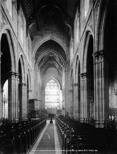 Nave, St. Andrew's Cathedral, Sydney, (Looking E) c1900