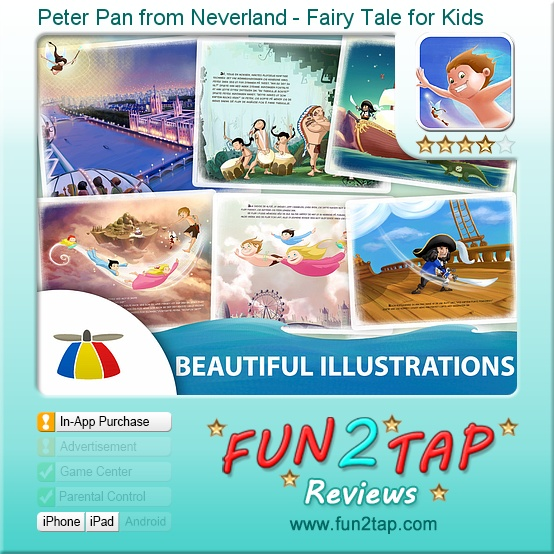 Our Peter Pan app got a good review on Fun2Tap! Full review at: http://fun2tap.com/index.cfm#id2210