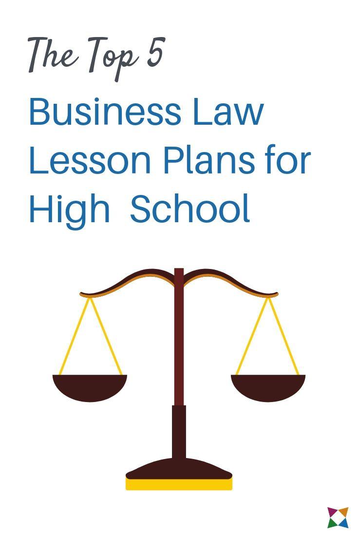 high school business law lesson plans