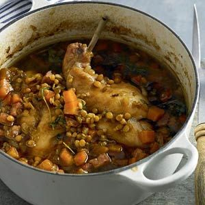 Recept - Konijn gestoofd in linzen - Allerhande
