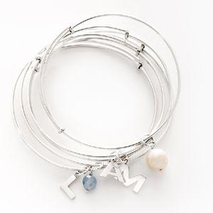 Mix and match charms on bracelets