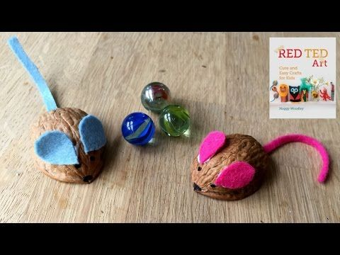 Kids Get Crafty: Walnut Mouse Racing - Red Ted Art's Blog