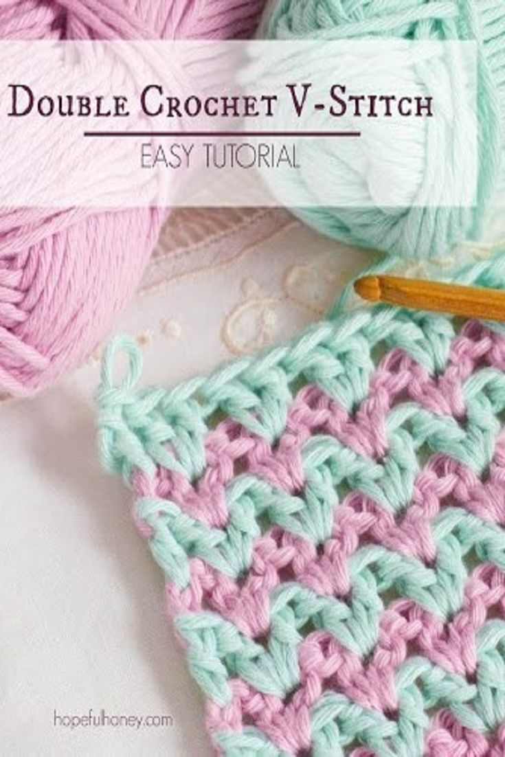 How To: Crochet The Double Crochet V Stitch  Easy Tutorial