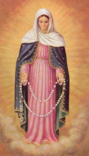Nuestra Señora del Rosario o Virgen del Rosario. Festividad, 7 de Octubre. Fiesta de la Bienaventurada Virgen María del Santísimo Rosario.