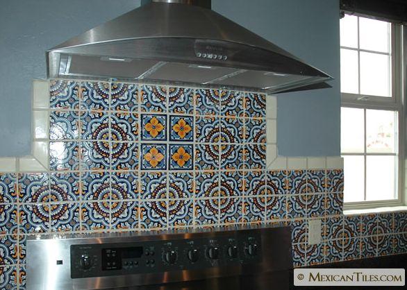 Mexican tile backsplash
