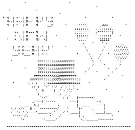 One Line Ascii Art New Year : Happy new year ascii text art holiday