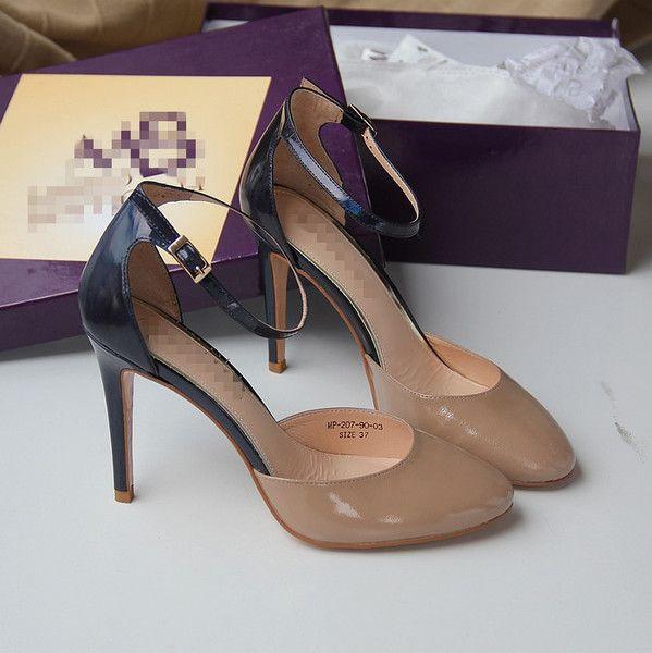 Баотоу элегантные и удобные туфли на высоком каблуке, сандалии, большие ботинки размер 37-39