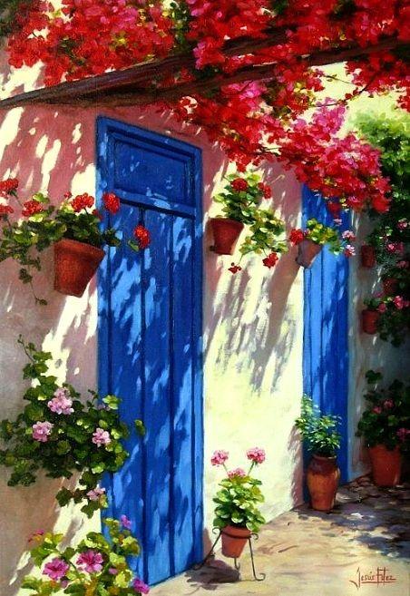 Galería de Arte Cristina Faleroni cristinafaleroni.blogspot.com452 × 657Buscar por imagen Patio puertas azules Jesús Fernández pintura - Buscar con Google