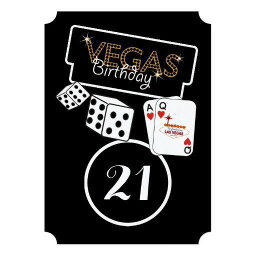 350 best images about Las Vegas Birthday Party Invitations on – Las Vegas Party Invitations