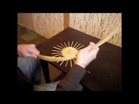 Плетем крышку шкатулки(хитрый узор)-Weaving cap boxes - YouTube