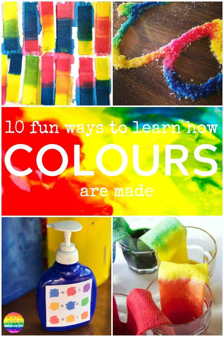 Learning colors art activities for preschool - 10 Fun Ways To Learn How Colours Are Made Color Activitiespreschool