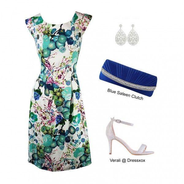 Yenie Japanese Print Stretch Cotton Dress