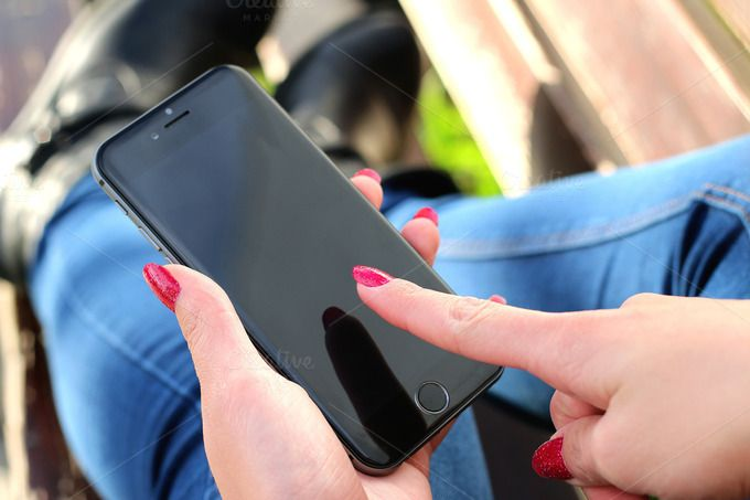 Check out Fresh iPhone 6 in woman hand mockup by Jan Vašek on Creative Market #iphone #mockup #jeshoots www.jeshoots.com