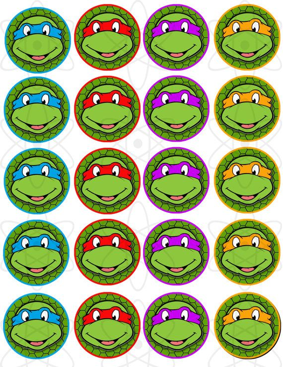 2 PRINTABLE Teenage Mutant Ninja Turtles Cupcake by AtomDesign, $5.00