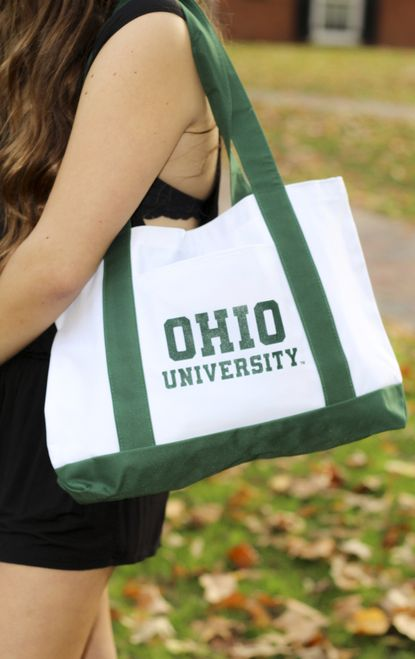 Ohio University White/Green Tote Bag