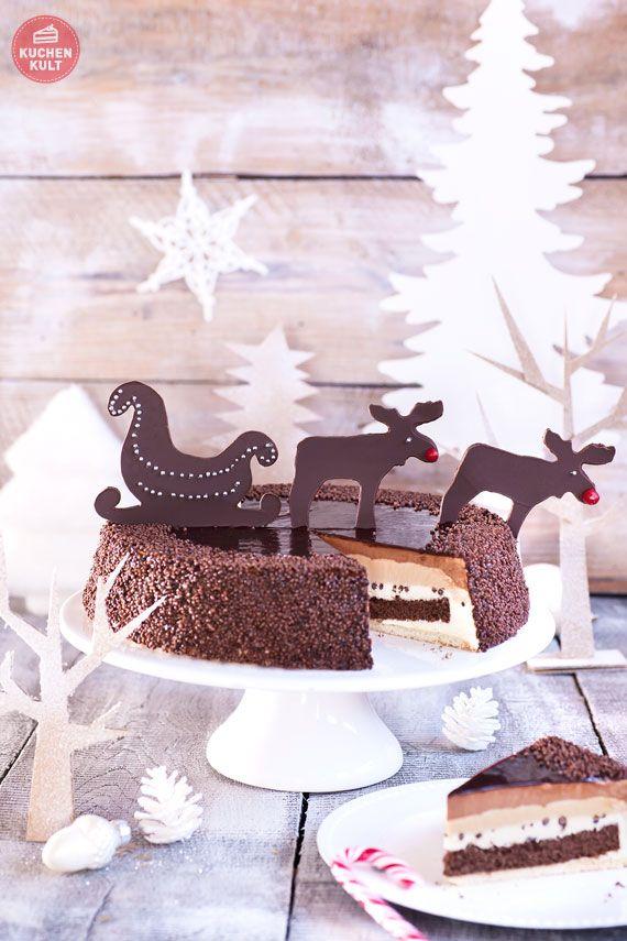 Schablone weihnachten torte