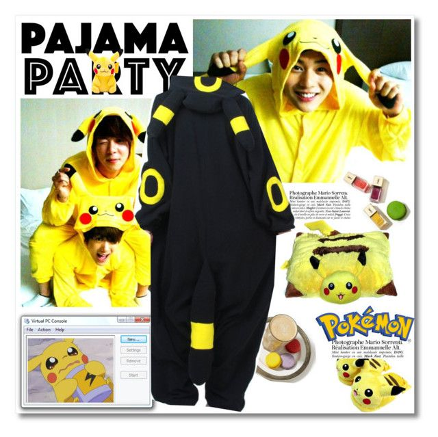 """""""Pokemon Pajama Party"""" by junglover ❤ liked on Polyvore featuring moda, Charlotte Olympia e Disney"""