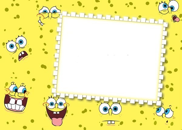SpongeBob PNG Kids Transparen Frame Designs Pinterest