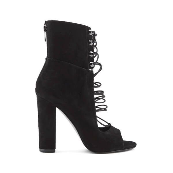 Kendall + Kylie Women's Ella Suede Lace Front Heeled Sandals (€72) ❤ liked