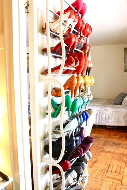 Yes! All this shoe storage in a small, 475 sq ft studio apt.