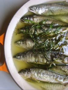 鮎のコンフィ|きちんとレシピ|フードソムリエ
