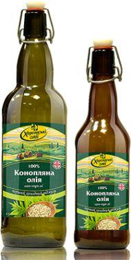 Сыродавленное холодного отжима Масло конопляное Херсонські олії, 500мл | цена, обзор | Mafusal