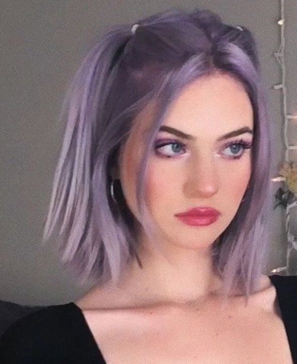 Bath And Body Purple Dyed Hair Purple Dyed Hair Bangs Under Dyed Hair Dyed Hair Front Strands Dyed Hair Id In 2020 Aesthetic Hair Pink Hair Dye Light Purple Hair