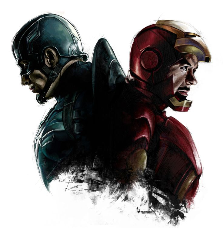Ilustración de Civir War (dibujo a mano + color en digital).
