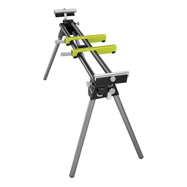 Ryobi Miter Saw Stand with Tool-Less Height Adjustment-RMS10G - The Home Depot