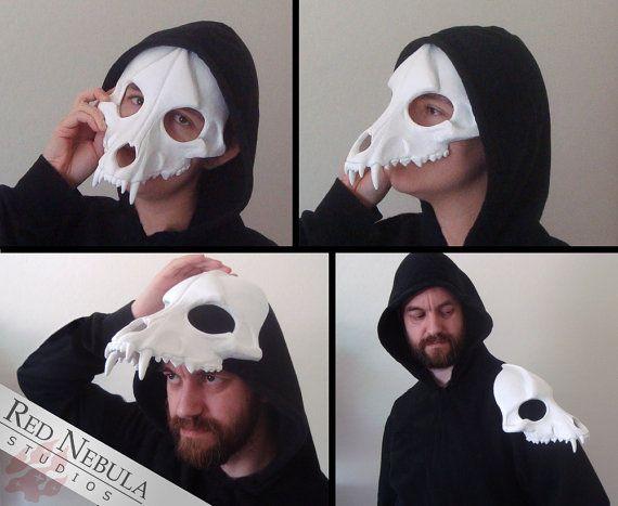 Wolf+Skull+Mask+Blank+Cast+Resin+Skull+Canine+by+RedNebulaCosplay