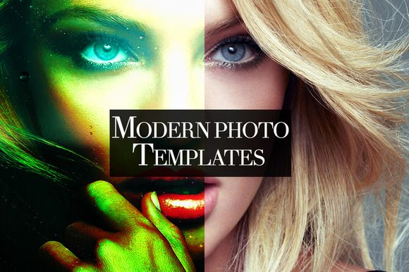 I just released 100+ Modern Photo Templates on Creative Market.