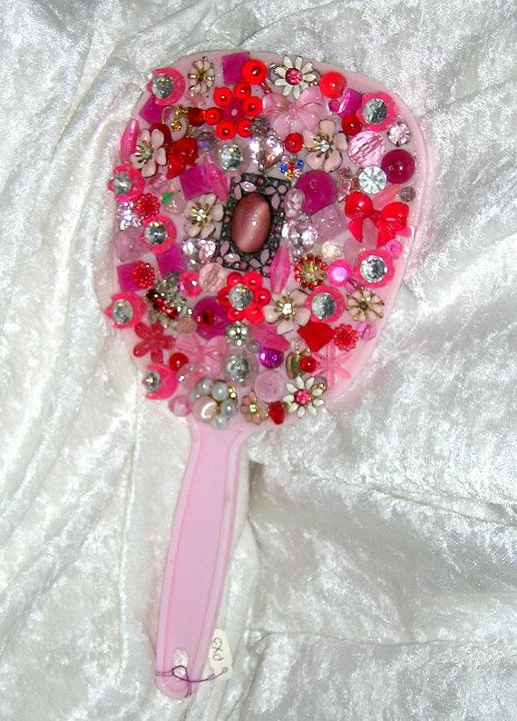 Fun cute way to use grandma's vintage gems. :)