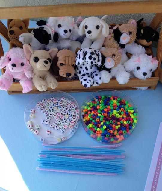 Make a pet collar activity at a Dog and Cat Birthday Party!  See more party ideas at CatchMyParty.com!