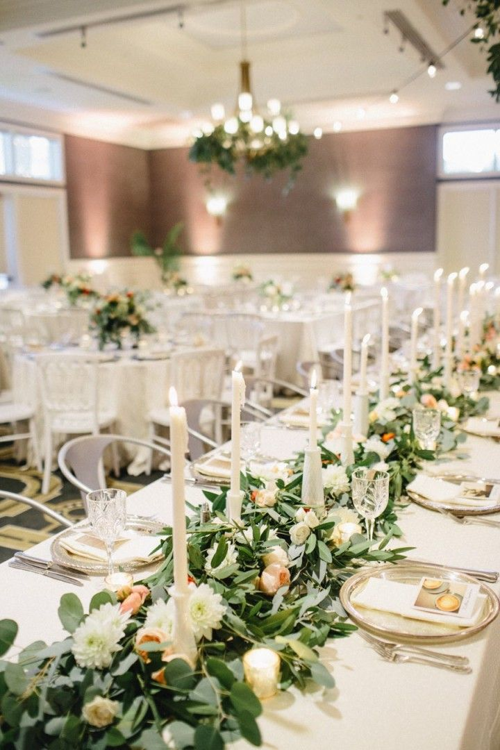 Whimsical And Chic Austin Wedding CentrepiecesDecor WeddingOur WeddingWedding DecorationsSpring WeddingLong Table